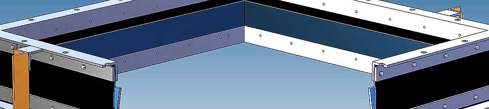 Rectangular EPDM flexible connections - Model 511 and 512 industrial grade, all welded construction - dB Noise Reduction