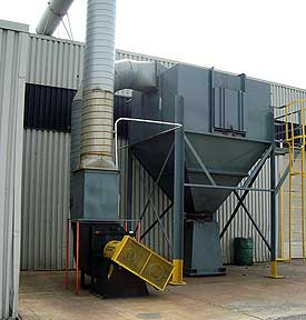 Noise reduction on dust collectors